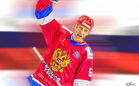 Igor Larionov / Digital Painting / Hockey / Detroit Red Wings / Russia / World Legends League