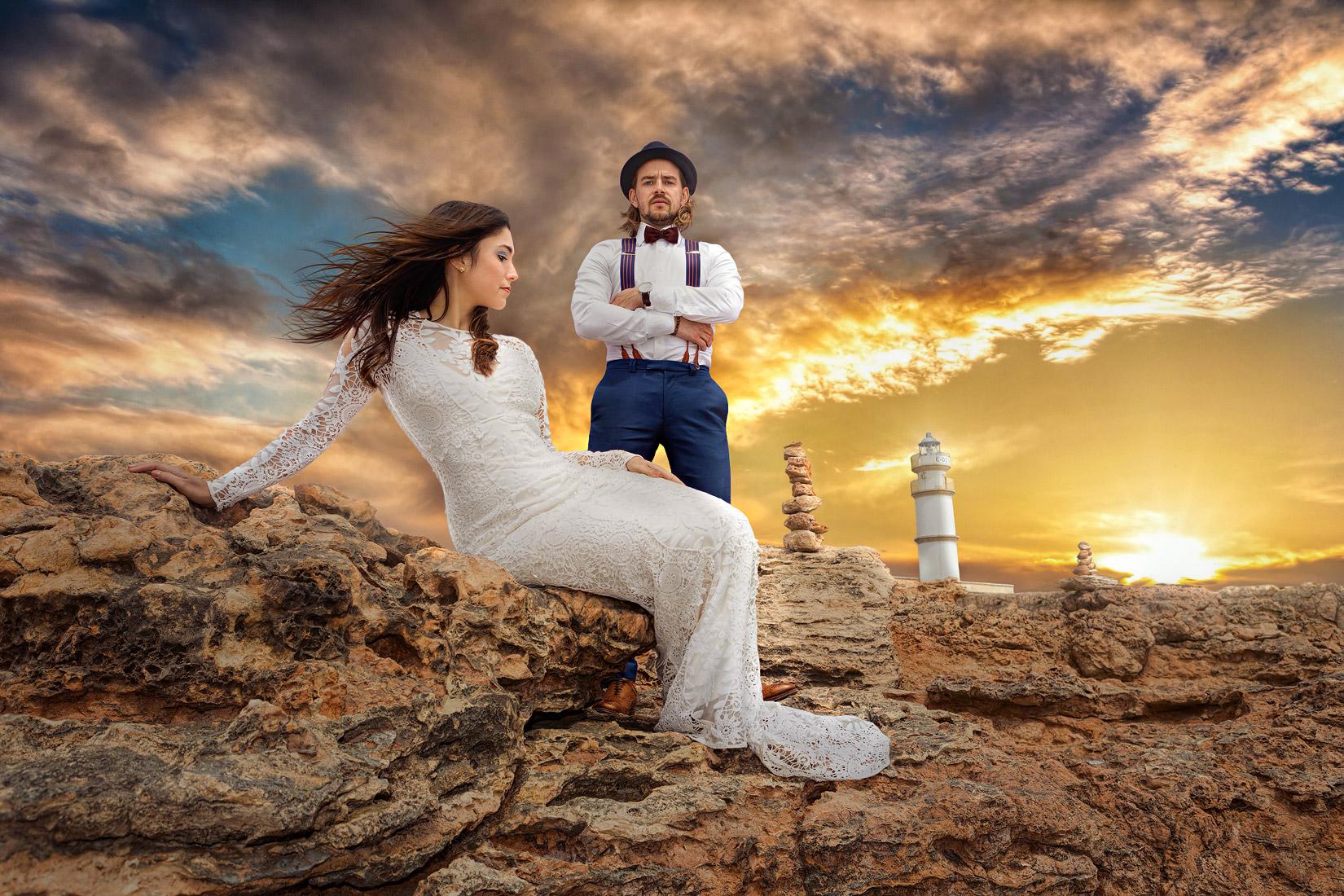 Far des Cap de ses Salines - Mallorca - After-Wedding-Shooting / Hochzeitsfotograf