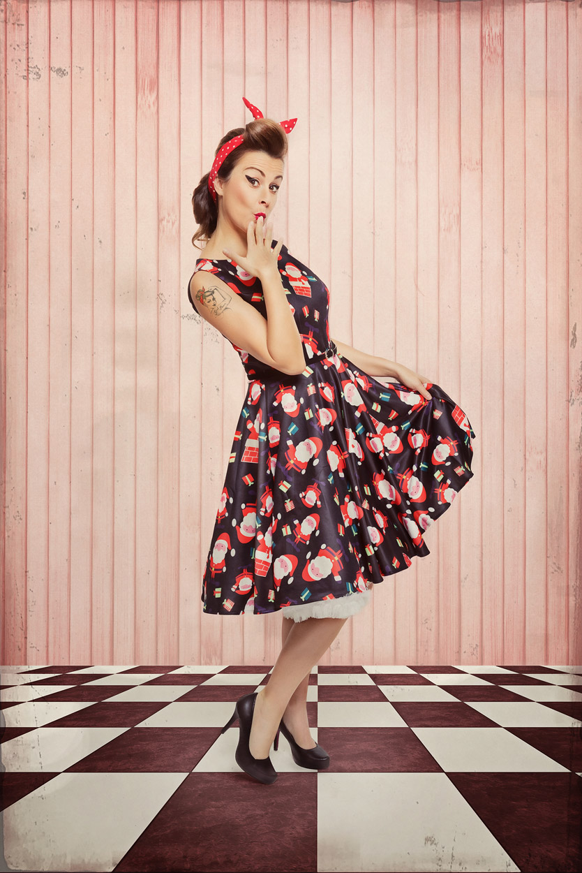 rockabilly christmas weihnachts shooting mit anja. Black Bedroom Furniture Sets. Home Design Ideas