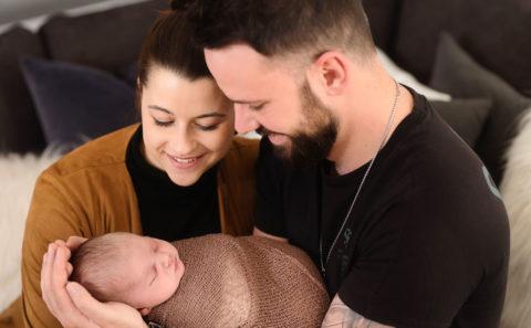Newborn-Zwergerl Homeshooting - Babyfotograf Straubing